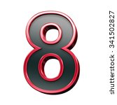 one digit from black with red... | Shutterstock . vector #341502827