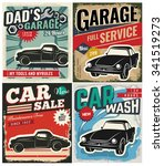 vintage retro style. set of... | Shutterstock .eps vector #341519273