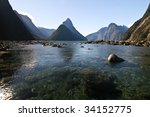 milford sound new zealand | Shutterstock . vector #34152775