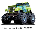 cartoon monster truck.... | Shutterstock .eps vector #341553773