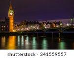 Big Ben Tower At Night Time...