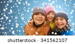 childhood  christmas  winter ... | Shutterstock . vector #341562107