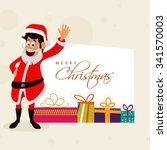 elegant greeting card design... | Shutterstock .eps vector #341570003