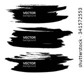 big thick black smears set... | Shutterstock .eps vector #341572553