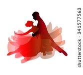 man and woman dancing tango....   Shutterstock .eps vector #341577563