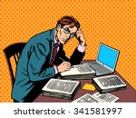 writer editor journalist... | Shutterstock .eps vector #341581997