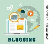 blog  blogging and blogglers... | Shutterstock .eps vector #341600183