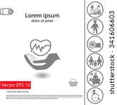 health insurance icon.... | Shutterstock .eps vector #341606603