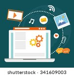 blog  blogging and blogglers... | Shutterstock .eps vector #341609003