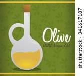 olive oil concept with organic... | Shutterstock .eps vector #341617187