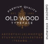 vector handmade font. vintage... | Shutterstock .eps vector #341634893