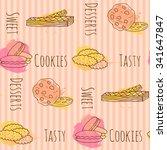vector cookie illustration.... | Shutterstock .eps vector #341647847