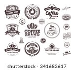 set of vintage retro coffee... | Shutterstock .eps vector #341682617