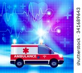 ambulance car isolated on a... | Shutterstock .eps vector #341689643