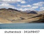 mountains and pangong tso  lake ... | Shutterstock . vector #341698457