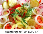 salad with dill green pepper... | Shutterstock . vector #34169947