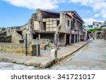 ruins of herculaneum destroyed... | Shutterstock . vector #341721017