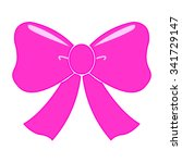 pink bow | Shutterstock .eps vector #341729147