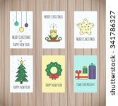 set of greeting card templates... | Shutterstock .eps vector #341786327