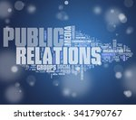 word cloud with public... | Shutterstock . vector #341790767