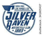 silver raven motorcycle club .t ... | Shutterstock .eps vector #341805437
