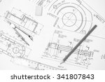 measuring and drawing... | Shutterstock . vector #341807843