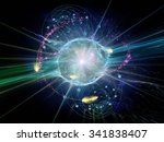 atomic wave  series. background ... | Shutterstock . vector #341838407