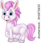Cartoon Baby Pony Horse Posing...