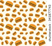 hamburger vector pattern on... | Shutterstock .eps vector #341877743
