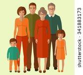 happy vector family portrait ... | Shutterstock .eps vector #341883173