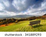 Sunny Autumn Alpine Panorama...