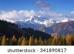 autumn evening sunny view of... | Shutterstock . vector #341890817