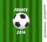 euro 2016 france football... | Shutterstock .eps vector #341895797