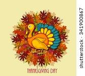happy thanksgiving day | Shutterstock .eps vector #341900867