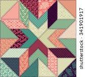 seamless pattern. patchwork. | Shutterstock .eps vector #341901917