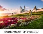kazan flower peacock at the...   Shutterstock . vector #341908817