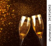 two glasses of champagne | Shutterstock . vector #341914043