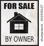 for sale by owner home design... | Shutterstock . vector #341920127