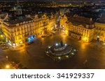 old town square in prague at... | Shutterstock . vector #341929337
