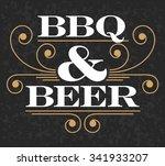 decorative bbq   beer vector... | Shutterstock .eps vector #341933207