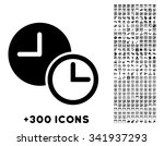 clocks vector pictogram with... | Shutterstock .eps vector #341937293