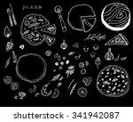 pizza doodle set. | Shutterstock .eps vector #341942087