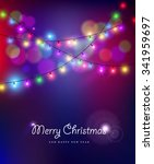 merry christmas happy new year... | Shutterstock . vector #341959697