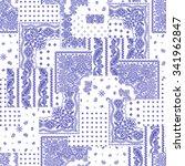 bandanna pattern design | Shutterstock .eps vector #341962847