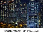 Small photo of Night-scape from Victoria peak at Hong Kong