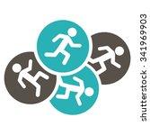 running men vector icon. style... | Shutterstock .eps vector #341969903