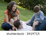 family playing | Shutterstock . vector #3419715