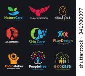 logo set logo collection people ... | Shutterstock .eps vector #341980397