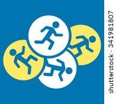 running men vector icon. style... | Shutterstock .eps vector #341981807