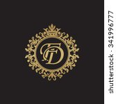 fd initial luxury ornament... | Shutterstock .eps vector #341996777